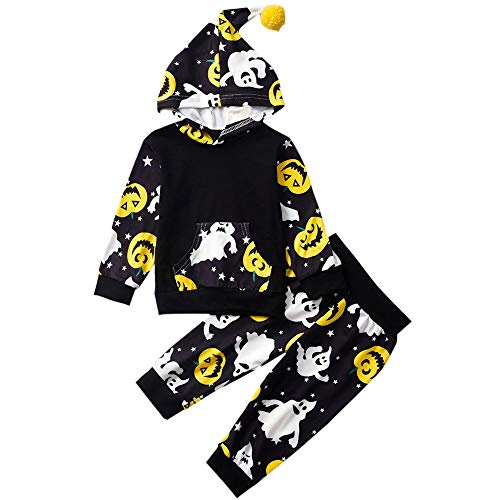 Little Brother And Sister Halloween Costumes (Little-Big-Brother-Sister-Matching-Outfits Halloween Jack-O'-Lantern Print Series Hoodies Pant Sets+Romper+T-Shirt)