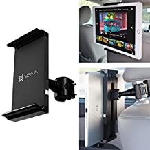 "Car Headrest Mount Holder, Vena HEADTAB [One Hand] Back Seat Car Mount for Apple iPad Air Mini, Chromo Android, Dragon Touch, Samsung Galaxy Tab A E, LeapFrog Epic/LeapPad, Nabi JR (5""-11"" Tablets)"