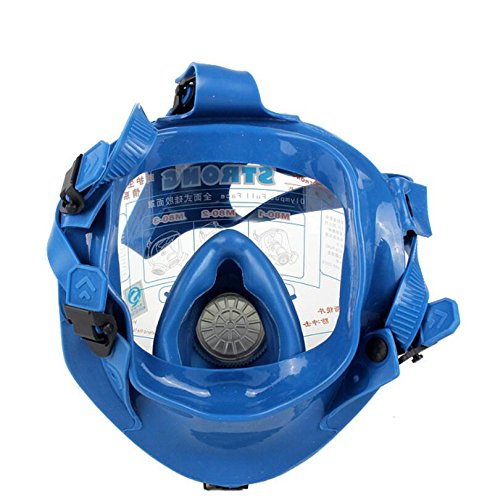 Induschoice Broad View Organic Vapor Full Face Respirator Mask Gas Mask Paint Pesticide Chemical Formaldehyde Anti Virus Respiratory Protection(Respirator +1 Pair Cartridges) by Induschoice (Image #2)