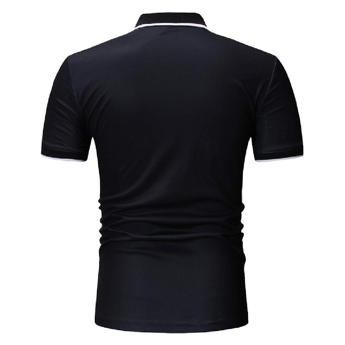BAYYMen Fashion Color Conjoin Relaxed-Fit Short-Sleeve Polo Shirt