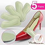Heel Grips Pads Leather Liner Cushions Inserts for Loose Shoes,Shoe Pads for Shoes Too Big 5pairs