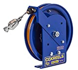 Coxreels EZ-SD-100 Safety Series Spring Rewind Static Discharge Cord Reel: 100' cord