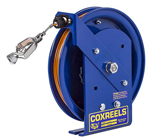 Coxreels EZ-SD-50-1 Safety Series Spring Rewind Static Discharge Cord Reel: 50' cord, stainless steel cord (Discharge Static Reels)
