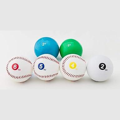Amazon Com Npa Official Weighted Baseballs 6pc Set Clothing