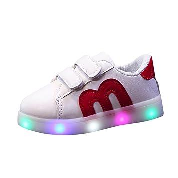Sannysis Zapatos niño LED Zapatillas de Colores de Luces Transpirables Luces Reflectantes de Seguridad Actividades al Aire Libre por la Noche, ...
