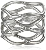 Zina Sterling Silver ''Wired'' Wavy Ring, Size 7
