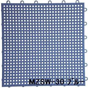 水廻りフロアー サワーチェッカー MZSW-30 16枚セット 色 ブルー サイズ 厚13mm×タテ300mm×ヨコ300mm/枚 16枚セット寸法(1200mm×1200mm) 【日本製】 【防炎】 B01L8MBB60 18462