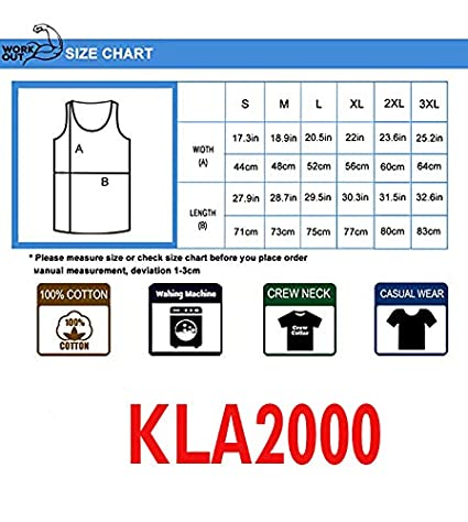 100/% Cotton KLA2000 Mens M-opar Or No Cars Sleeveless Tank Tops Casual Sport Gym Vest Shirt