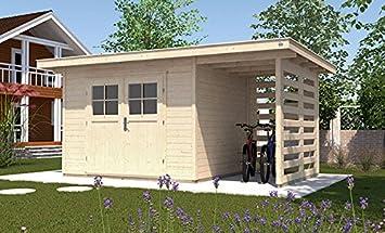 Weka Gartenhaus 179 A Gr 3 Natur 28 Mm Dt Anbau 150 Cm Amazon