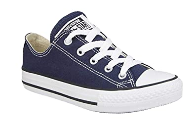 Converse All Star Low Top KidsYouth Shoes BoysGirls Sneakers (10.5 Kids, Low Navy Blue)