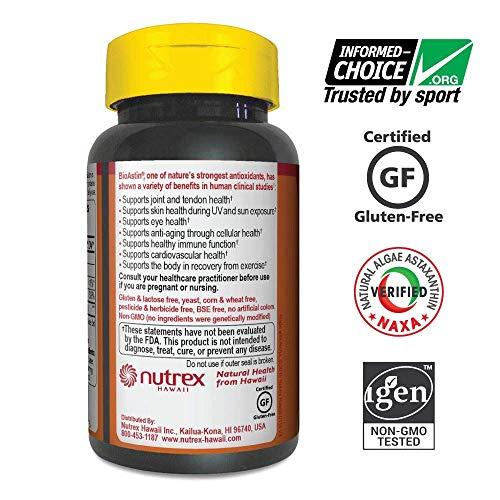 Nutrex Hawaii Bioastin Hawaiin Astaxanthin - 12mg, 50 Gel Caps (pack of 4) by NUTREX HAWAII (Image #3)