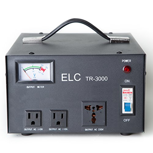 LiteFuze TR-3000 ELC TR-3000 3000 Watt Voltage Regulator with Transformer ()