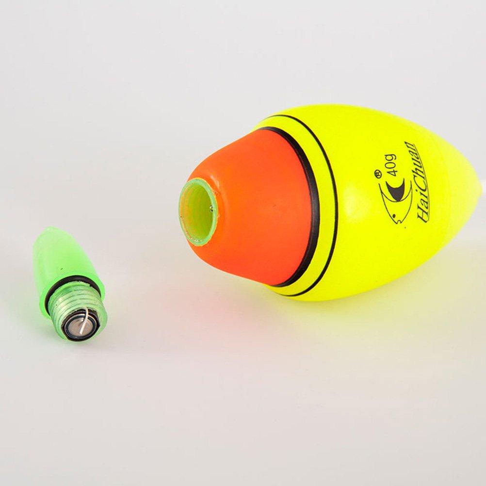 VORCOOL flotteur lumineux 40g de p/êche de mousse de flotteurs de p/êche de nuit de nuit avec la batterie pour leau sal/ée deau douce