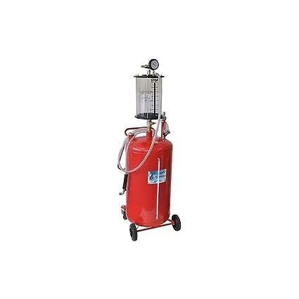 Aspirador de aceite Esausto 80lt sobre ruedas neumático de aire ...