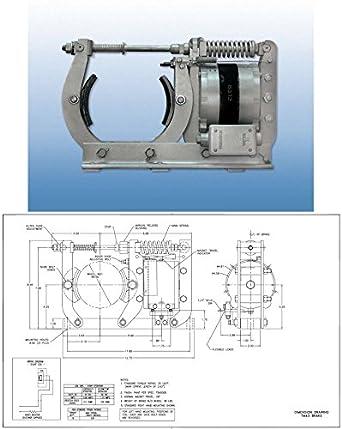 Ametek Gemco Heavy Duty Spring Set magnético Zapata de freno Asamblea, Corriente Directa Clapper tipo, 4,5 pulgadas Diámetro de la rueda: TM-43: Amazon.es: ...