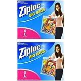 Ziploc Big Bags, Large, 5 Count (2 Packs (Large, 5 ct))