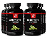 Grapeseed - GRAPE SEED EXTRACT 100 - Heart Health Vitamins 6 Bottles 180 Capsules