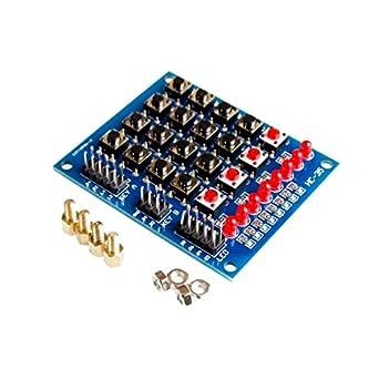 Teclado Matrix Array/Matrix de 44 teclas con 16 teclas para ...