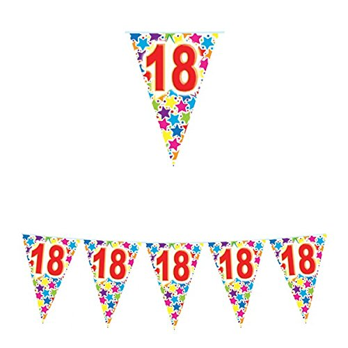 Chance SAS IRPot Kit 48 PZ Festone BANDIERINE Palloncini Auguri Coordinato Compleanno 18 Anni
