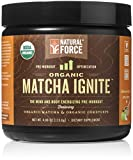 Natural Force Matcha Ignite USDA Organic Pre Workout *ORGANIC ENERGY DRINK POWDER* Paleo, Vegan, Non GMO, Gluten Free, Natural Pre Workout, Apple Matcha, 4.08 oz. by Natural Force