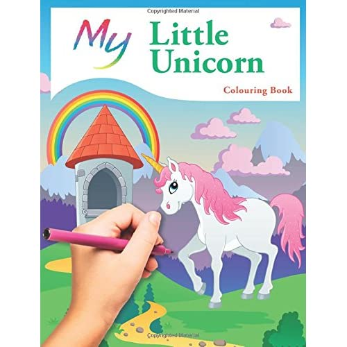 My Little Unicorn Colouring Book Cute Creative Childrens