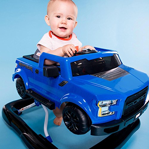 511ZqS 40NL - Bright Starts 3 Ways to Play Walker - Ford F-150 Raptor, Lightning Blue, Ages 6 months +