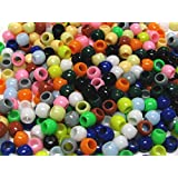 Linpeng 4300-Piece Pony Beads, 6 by 7mm, Assorted Colors