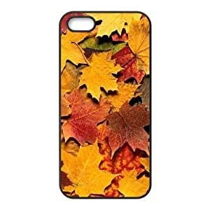 Autumn Maple Leaf Yellow Fashion Rubber Case Cover for Iphone 5 5s