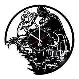 Cheap Star Wars Handmade Vinyl Record Wall Clock Fun gift Vintage Unique Home decor