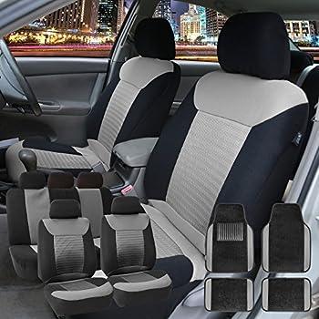 Amazon FH Group FB065GRAY115 Gray Classic Khaki Car Seat