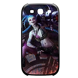 Jinx-001 League of Legends LoL case cover for Samsung Galaxy S3, I9003 - Plastic Black