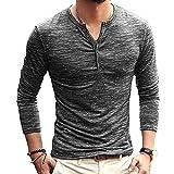 Best Man Buttons - Ewingworld Men T Shirts Cotton Long Sleeves Slim Review
