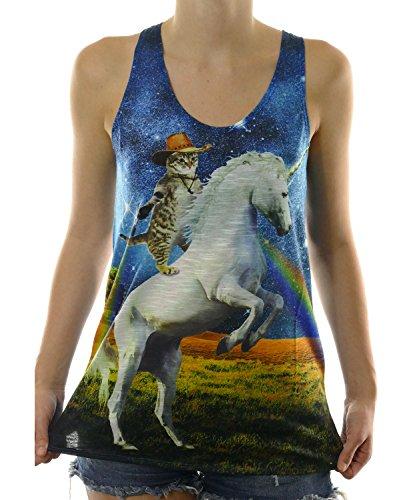 Cowboy Riding Unicorn Shooting Rainbows product image