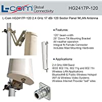 L-COM - HG2417P-120 - ANTENNA, 120 SECTOR PANEL, 2.4GHZ