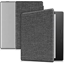 """CaseBot Case for Kindle Oasis (9th Generation, 2017 Release ONLY) - Super Slim and Lightweight Cover with Auto Wake/Sleep for Amazon All-New 7"""" Kindle Oasis E-reader, Denim Charcoal"""