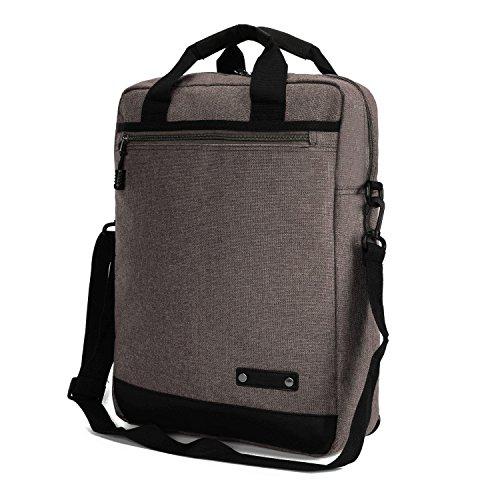 3-in-1 Business Laptop Rucksack Schultertasche Handtasche Herren Umhängetasche Damen Messenger Taschen College Hochschule Backpack 14 Zoll für Männer und Frauen (Schwarz) Khaki