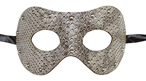 KAYSO INC Men's Leather Masquerade Mask -