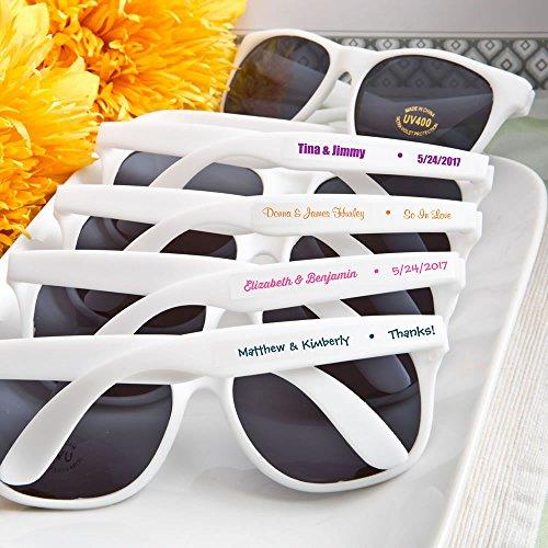 Set of 40 Personalized Sunglasses- Wedding Favors (Custom Stickers)
