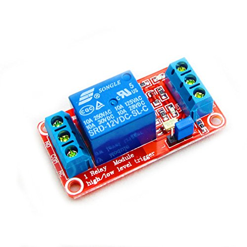 HiLetgo 12V 1 Channel Relay Module With Optocoupler Isolation Support High or Low Level Trigger