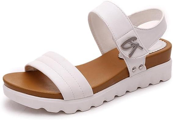 Sandalias De Mujer K Youth Moda Sandalias Mujer Verano 2018 Tacon Alto Fondo Grueso Sandalias Romanas Mujer Elegante Sandalias Plataformas Mujer Fiesta Playa Zapatos Mujer Verano Baratos Amazon Es Zapatos Y Complementos