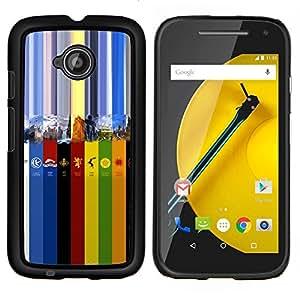 Caucho caso de Shell duro de la cubierta de accesorios de protección BY RAYDREAMMM - Motorola Moto E2 E2nd Gen - Colores GOT