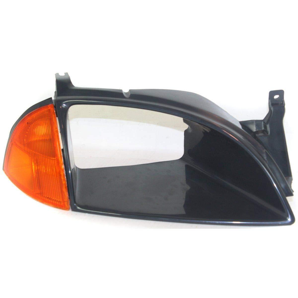 Headlight Door For 1995-1997 Geo Metro Right Black w//Corner Light