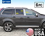 Made In USA! Works With 2003-2015 Volvo XC90 6PC Stainless Steel Chrome Pillar Post Trim