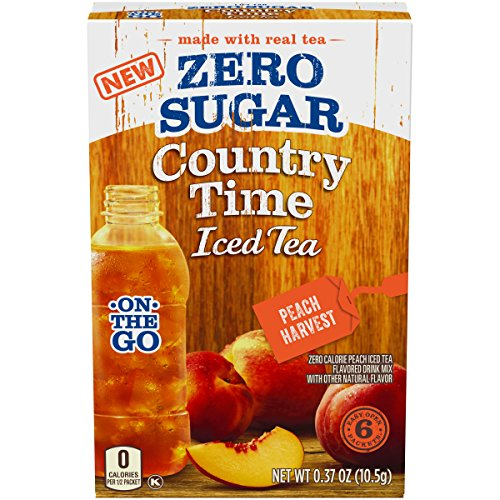 Country Time Peach Harvest Iced Tea Zero Sugar Drink Mix (0.37 oz Packets, 12 Count)