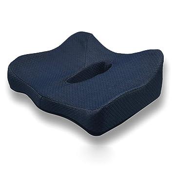 Cojín de asiento de espuma viscoelástica, Cojín de coxis ergonómico ortopédico para respaldo, espina