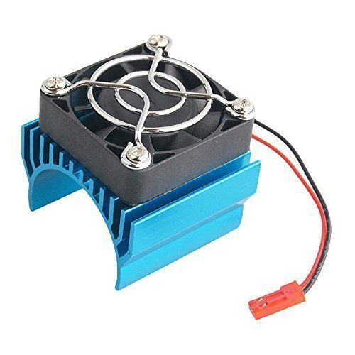 Super Brushless Motor Heatsink with Cooling Fan RS540 550 540 Size 5-6V Electric Engine Heat Sink For Remote Control RC Car Truck Buggy Crawler (Motor Brushless Heatsink)