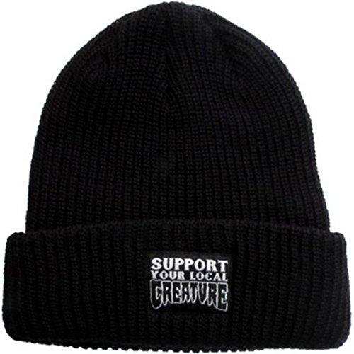 Creature Mens Support Long Shoreman Beanie Hat One Size (Beanie Skate Cap Hat)