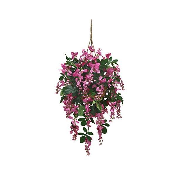 Arcadia Silk Plantation Extra Full Artificial Wisteria Hanging Basket