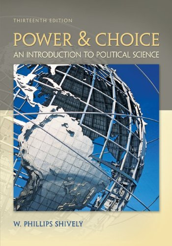 Power and Choice An Introduction to Political Science pdf