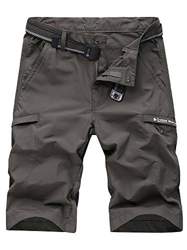 OCHENTA Men's Outdoor Expandable Waist Lightweight Quick Dry Shorts Army Green 2XL...